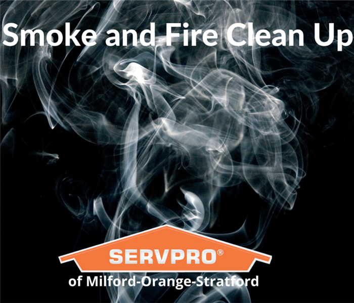Smoke background with the servpro logo