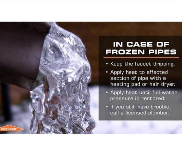 pipe with ice coming out of the end