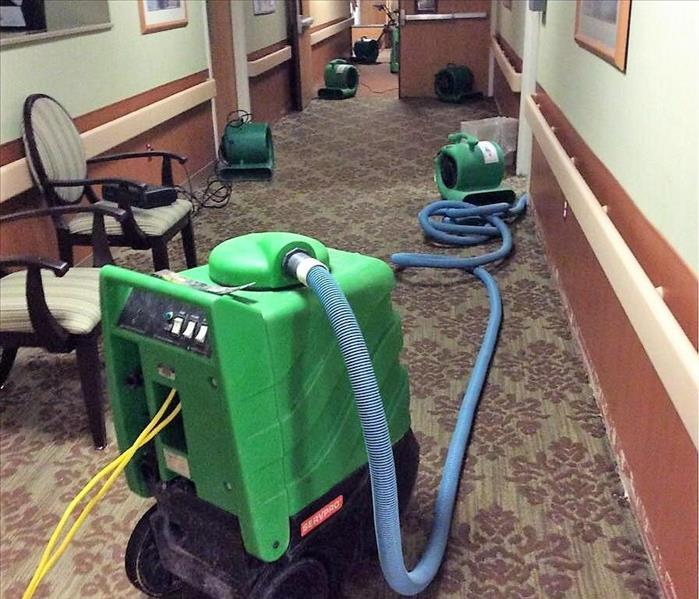 Water Damage The Equipment that SERVPRO of Milford-Orange-Stratford Uses During Commercial Water Damage Restoration